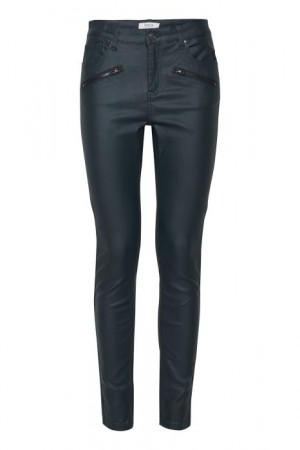 KIKO COATED PANTS DEEP TEAL