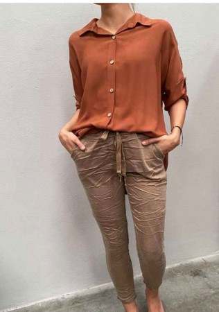 TINDRA PANT BROWN/BEIGE