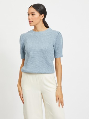 VICHASSA KNIT TOPP ASHLEY BLUE