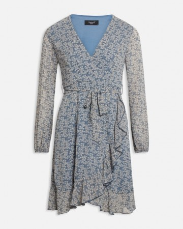 GRETO DRESS BLUE/FLOWER