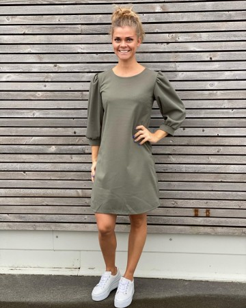 TILLA DRESS LIGHT ARMY