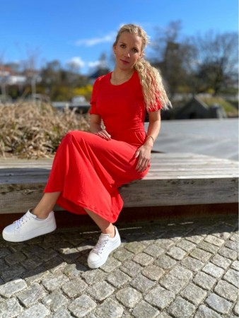 FQFINI DRESS POPPY RED