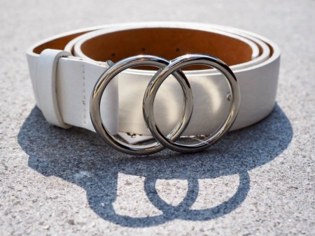 GUUCCII BELT WHITE