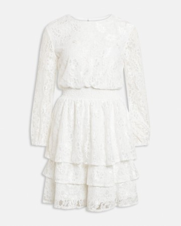 NICOLINE LACE DRESS CREAM