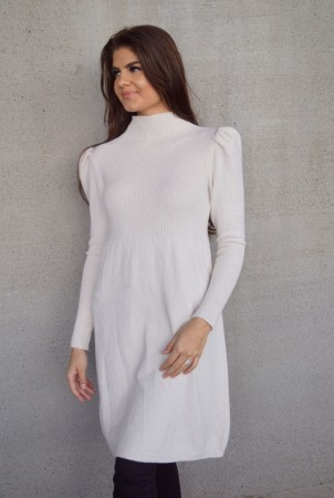 INE KNIT DRESS WHITE