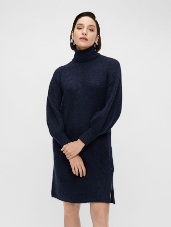 YASALLU KNIT DRESS BLÅ