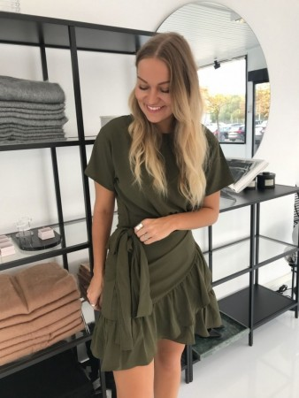 AGNES DRESS ARMY GREEN