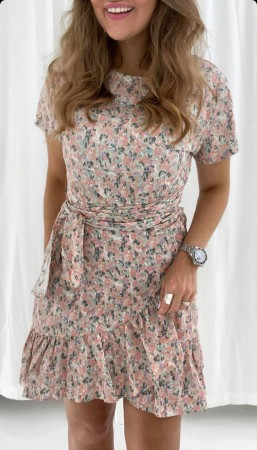 AGNES DRESS LIGHT PINK FLOWERS