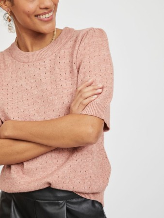 VIRIL PUFF KNIT OLD ROSE