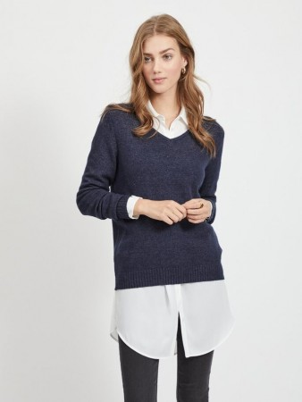 VIRIL O NECK NAVY