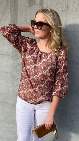 EMILY BLOUSE RED MIX
