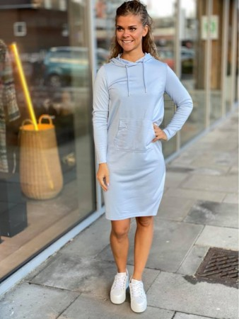 BYRIZI HOOD DRESS BLUE