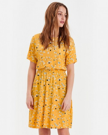 LISA DRESS BUFF YELLOW