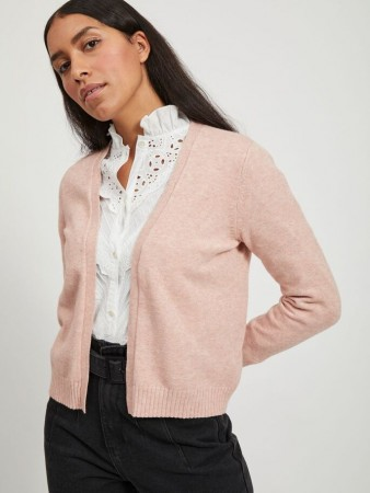 VIRIL SHORT CARDIGAN MISTY ROSE
