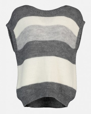 CAMILLA VEST FIVE LIGHT GREY