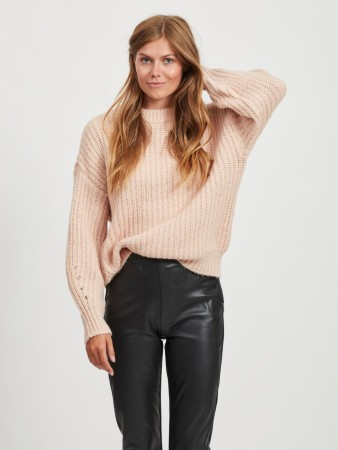 VISUBA KNIT GENSER MISTY ROSE