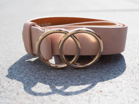 GUUCCII BELT DUSTY PINK